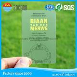 Cartão plástico transparente material do PVC do costume barato