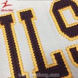 Camisola barata do basebol do bordado da tintura de Healong