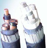 Изолированный PVC и обшил силовой кабель стального провода Armored