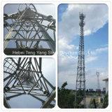 los 30m torre de acero de 4 del ángulo Legged de la comunicación telecomunicaciones del cedazo