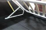 スラットベース現代イタリアのFurnitherが付いている黒いPUの革ベッド