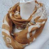 Lenço macio personalizado da infinidade do algodão do Voile do lenço da impressão