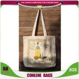 Totalizador de encargo barato reciclado de la lona del algodón del bolso de la lona de la promoción de las ventas al por mayor