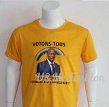 T-shirt bon marché d'élection de prix concurrentiel de promotion