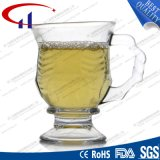 100ml는 새겼다 디자인을 작은 명확한 유리제 커피 잔 (CHM8173)