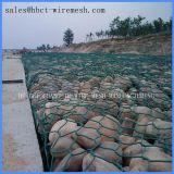 PVC beschichtetes galvanisiertes Felsen-Korb Gabion Ineinander greifen