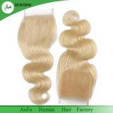 """8 """" - o cabelo brasileiro da qualidade superior de 22 """" estoques descorado ata o fechamento do laço do Blonde 613"""