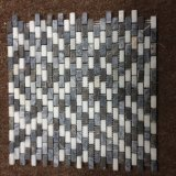 Chinesen spinnen grauen und weißen Marmorkristallstein, Ziegelstein-Mosaik
