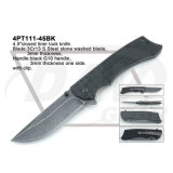 """4.5 """" cerraron el cuchillo de la maneta del negro del bloqueo del trazador de líneas con la piedra lavada: 4PT111-45bk"""