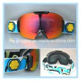 Lunettes de sûreté échangeables personnalisées de masque de ski de lentille de protection UV