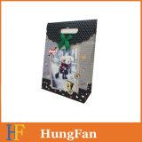 Bolsa de papel del alto grado que hace compras/bolsa de papel del regalo/bolso de mano con la maneta cortada con tintas