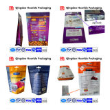 Kundenspezifischer Nahrung- für Haustierebeutel, Reißverschluss-Beutel mit seitlichem Stützblech