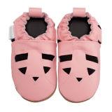 Ботинки младенца просто конструкций кожаный