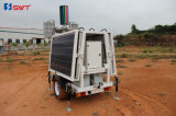 Vs Solar Lighting Tower 24VDC com LED Floodlights e opcional DC Generator Set