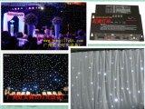 Cortina blanca de la estrella del disco LED para la etapa de la boda