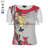 Signore Picture Print Cartoon Animal Design con T Shirt