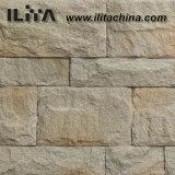 Pedra artificial cinzenta de pedra artificial, para fora telha da parede da porta (YLD-32011)