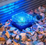 Lampada di cristallo del giardino del LED del mattone di ghiaccio del cubo dell'indicatore luminoso solare del percorso