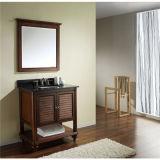 Vanidad simple del cuarto de baño de madera sólida con el espejo