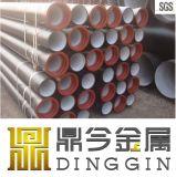 Pipe malléable de fer de zingage ISO2531/En545/En598 avec l'anneau de garniture de SBR