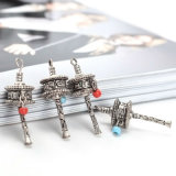 A roda de oração grande frisada acrílica encanta pendentes para a fatura da jóia
