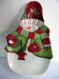 Plat en céramique peint à la main de vaisselle de Noël (GW1286)