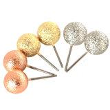 L'argent chaud d'or a plaqué les boucles d'oreille de goujon de bijou de la mode 5A réglées par boucles d'oreille de goujon de globule givrées par métal