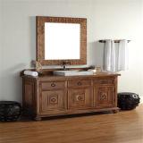Vanité debout de salle de bains d'étage moderne en bois solide