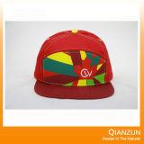 5つのパネルの革ロゴパッチの急な回復の急な回復の帽子