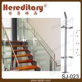 Balustrade en verre de pêche à la traîne d'escalier avec la balustrade d'acier inoxydable (SJ-016)