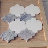 Mattonelle di pietra poco costose, mosaico di marmo di Thassos, mosaico Waterjet bianco