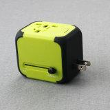 Конвертер Us/Au/UK/EU гнезд электрических штепсельных вилок с двойным USB Chargeing