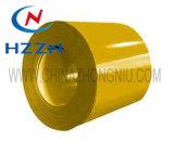 Colore d'acciaio galvanizzato preverniciato di colore giallo della bobina