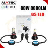 G5 자동차 부속용품 차 LED 헤드라이트 전구 H11 9007 9004 H13 H4 LED 헤드라이트