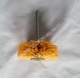 Vástago-Mounted Nylon, Abrasive, PP, Brass, Stainless Wire, Horse Hair, Bristle etc Wheel Brushes