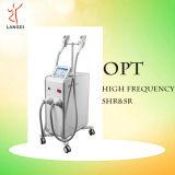 A máquina de alta freqüência da beleza do IPL Opt remoção do cabelo