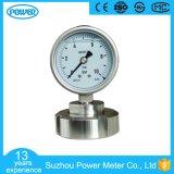 manometro di diaframma sanitario dell'acciaio inossidabile di 4 '' 100mm con la flangia
