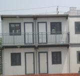 Casa de acero del dormitorio del envase de la construcción para de cuatro personas