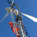 5k Wind Turbine System met 10m Free Stand Tower Installed in Europa