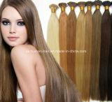 Les cheveux humains j'incline la prolongation blonde de cheveux de Remy