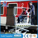 plataforma Disabled hidráulica do elevador de cadeira de 1m para a estrada de ferro