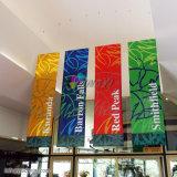 Soffitto dell'interno personalizzato di caduta che fa pubblicità alla bandiera del PVC Vinly con stampa