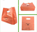 Bolso de compras de la impresión de la alta calidad Niza con el sacador de orificio de la bolsa de plástico