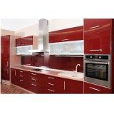 Weißer Lack-hoher Glanz-modularer China-moderner Küche-Schrank