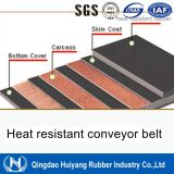 Correia transportadora de borracha resistente ao calor