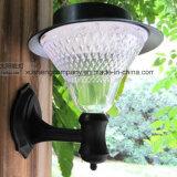 24LED- lumière solaire de jardin de tenture lumière blanche/jaune