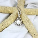 Argento d'acqua dolce naturale del pendente 925 della perla