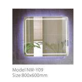 Specchio decorativo illuminato inossidabile moderno della stanza da bagno LED