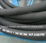 Boyau hydraulique en caoutchouc à haute pression d'en 856 SAE100 R12 DIN