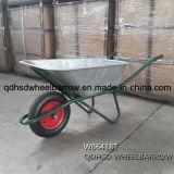 Galvanisierte Tellersegment-Schubkarre Wb6418 mit Rad der Luft-4.00-8